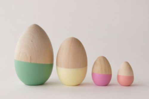 Pastel dipped eggs