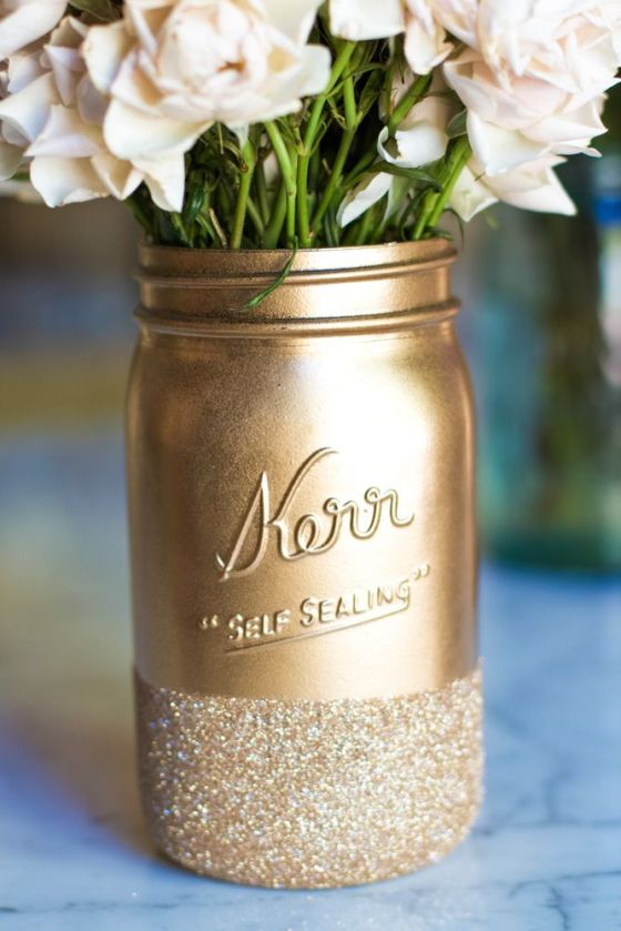 Golden jar
