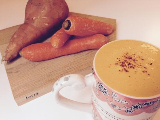velouté carottes patates douces lait de coco