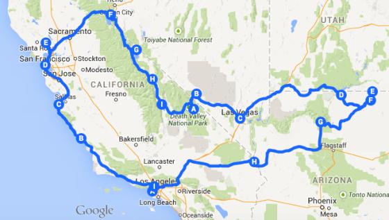 google map road trip
